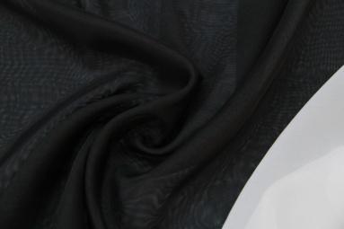 Шифон 30D шифон (22# чёрный) фото