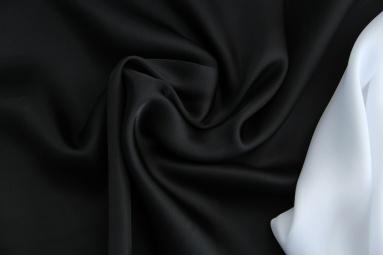 Шифон 30D сатин шифон (22# чёрный) фото