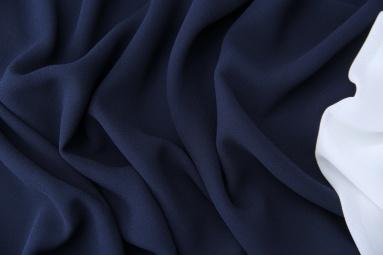 Шифон 75D креп шифон (2# синий тёмный) фото