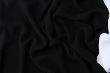 Шифон 75D креп шифон (22# чёрный) фото
