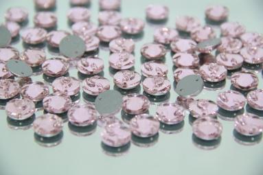 Круглі стрази 12MM (200PCS) (3# Pink) фото