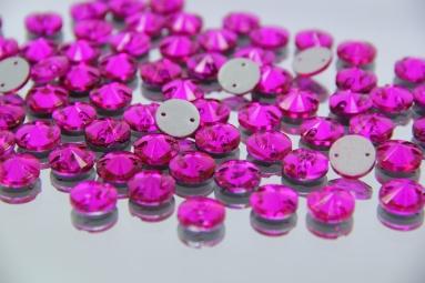 Круглі стрази 12MM (200PCS) (31# Raspberry) фото