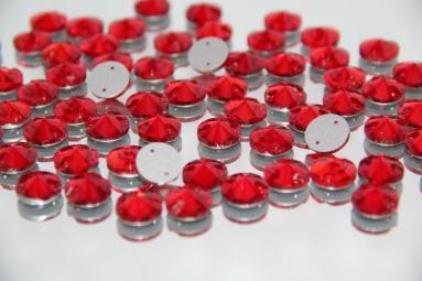 Круглі стрази 12MM (200PCS) (14# Red) фото