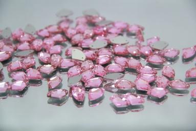 Трикутні стрази 8.5*14 (240PCS) (3# Pink) фото