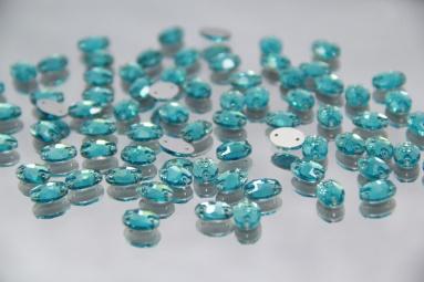 Овальні стрази 8*10 (360PCS) (2# Turquoise) фото