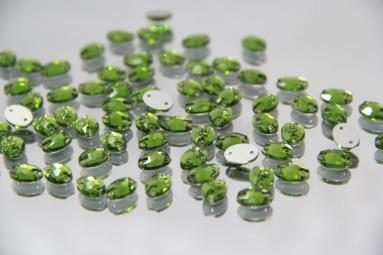 Овальні стрази 8*10 (360PCS) (4# Light olive) фото