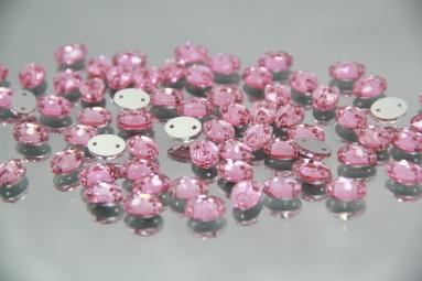 Овальні стрази 8*10 (360PCS) (3# Pink) фото