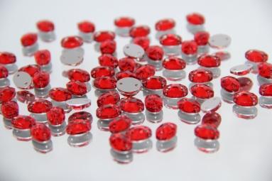 Овальні стрази 8*10 (360PCS) (14# Red) фото