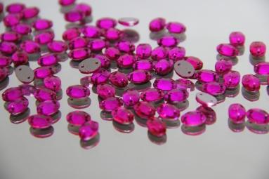 Овальні стрази 8*10 (360PCS) (31# Raspberry) фото