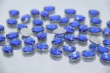 Овальні стрази 10*14 (240PCS) (17# Blue) фото