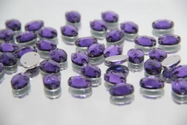 Овальні стрази 10*14 (240PCS) (8# Purple) фото