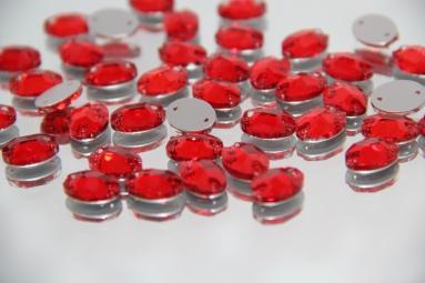 Овальні стрази 10*14 (240PCS) (14# Red) фото