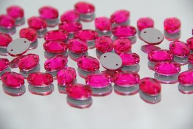 Овальні стрази 10*14 (240PCS) (31# Raspberry) фото