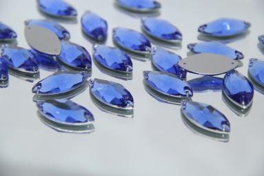 Стрази листком 17*31 (48PCS) (10# Light blue) фото