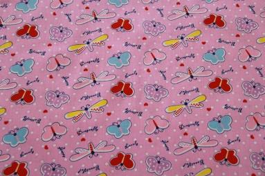 Ситець 3713 (розовый) фото