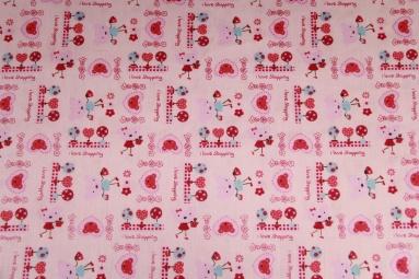 Ситець 4343 (розовый) фото