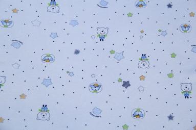 Інтерлок 1020 (Медведь синий) фото