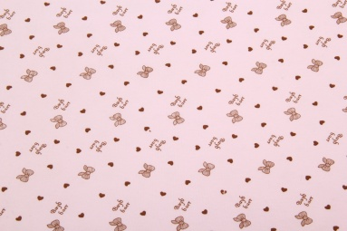 Інтерлок 1020 (Бантик розовый) фото