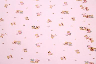 Інтерлок 1030 (Медвежата розовый) фото