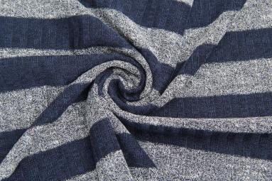 В'язана тканина Q15056 (5# синий-черный) фото