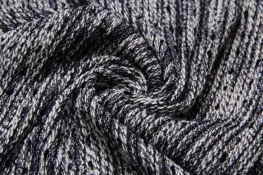 В'язана тканина QK3334 (6# черно-серый) фото