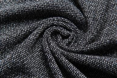 В'язана тканина 2734 (1# черный) фото