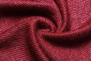 В'язана тканина H038-35 (бордовый) фото