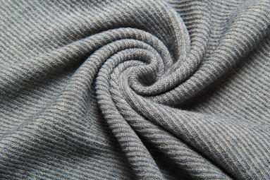 В'язана тканина 14902 (23# темный серый) фото