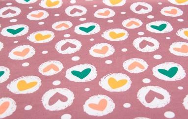 Інший трикотаж 1212 (Сердце цветное) фото